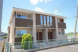 岡山県赤磐市熊崎の賃貸アパートの外観