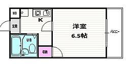 丹波橋サイドONE[203号室]の間取り