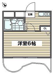 パルコート呉竹[1階]の間取り