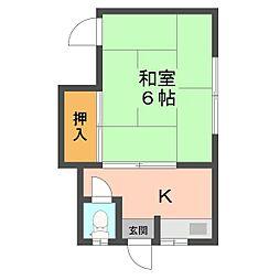 富士荘[212号室]の間取り