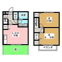 メゾウッド岡田[2階]の間取り