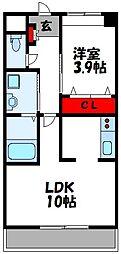 仮称)上府北2丁目アパート[202号室]の間取り