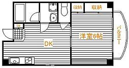 東京都荒川区東日暮里5丁目の賃貸アパートの間取り