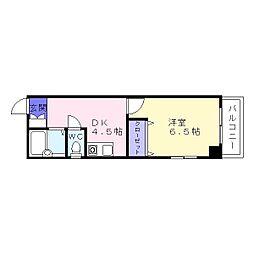 ファミーユMIYO[3階]の間取り
