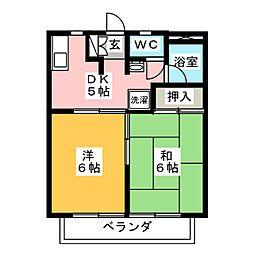 ツインKG[2階]の間取り