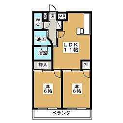 DOMUS21[4階]の間取り