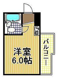 レアレア伝法27番館[7階]の間取り
