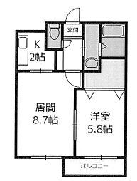 北海道札幌市西区琴似三条3丁目の賃貸マンションの間取り