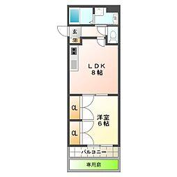 兵庫県神戸市垂水区歌敷山1丁目の賃貸マンションの間取り