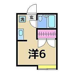 キャピタル北綾瀬B[106号室]の間取り