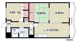 豊中ロイヤルマンション[6階]の間取り