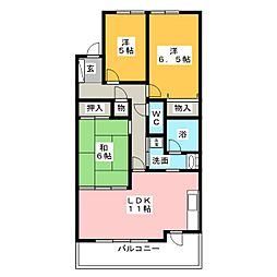 ライオンズマンション長根町第2[3階]の間取り