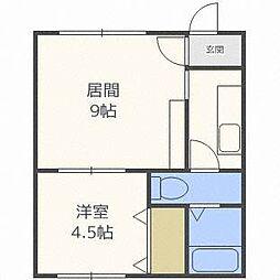 ?NEXT東札幌第2[2階]の間取り