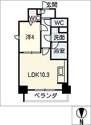ルノンドーム A[9階]の間取り