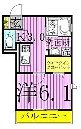 (仮)明原D-roomTV明原3丁目[2階]の間取り