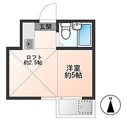 寿町アパート[202号室]の間取り