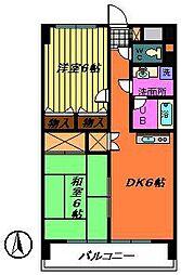 グランドールマンション[2階]の間取り