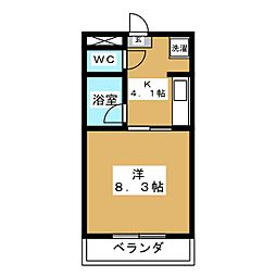 ウランタワー[10階]の間取り