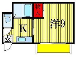 ミドリ荘[2階]の間取り