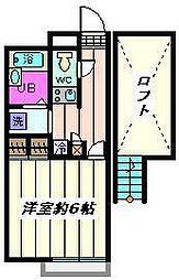 埼玉県川口市桜町3丁目の賃貸アパートの間取り