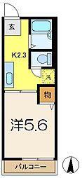 シティハイムカトレアB[2階]の間取り