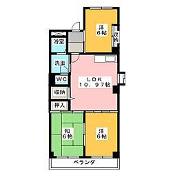 サンシャインITO[1階]の間取り