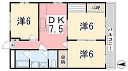 兵庫県姫路市中地の賃貸マンションの間取り