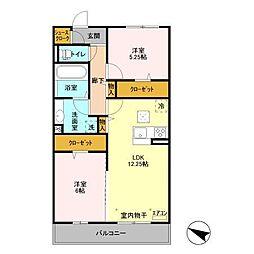 (仮)D-room飯山満町 A[302号室]の間取り