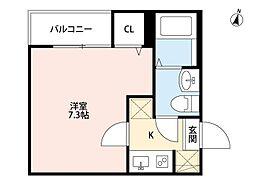 tocco江北(トッココウホク)[3階]の間取り