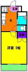 静岡県磐田市富里の賃貸マンションの間取り