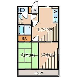 ガーデンハイム相生[2階]の間取り