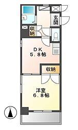 シャンポール大須[5階]の間取り