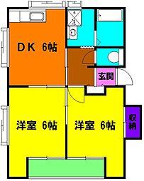 ホパトハウス材木町[1階]の間取り