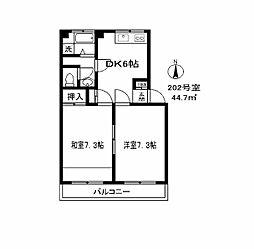 079301 宮川マンション[2階]の間取り