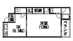 富士ハイツ[202号室]の間取り