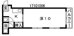 パークサイド長居[4階]の間取り