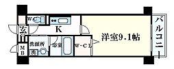 JR東海道・山陽本線 甲南山手駅 徒歩6分の賃貸マンション 4階1Kの間取り