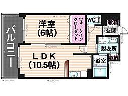 グランパ藤永田[2階]の間取り