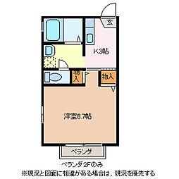 サンマルコ吉澤D棟[1階]の間取り
