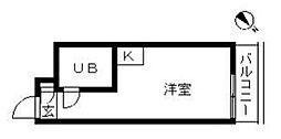 トップ三軒茶屋第3[3階]の間取り