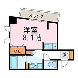 グラシア鶴舞[503号室]の間取り
