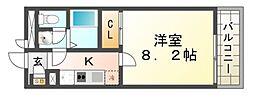 クレイノコンフォール杭瀬北新町[3階]の間取り