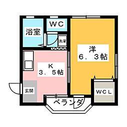 ビバリーヒルズ横須賀[3階]の間取り