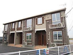 新潟県新発田市中曽根の賃貸アパートの外観