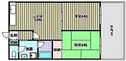 グラン・ピア富田林[1階]の間取り