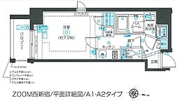 ZOOM西新宿 7階1Kの間取り