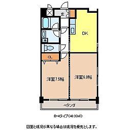 メゾンユートピア[6階]の間取り