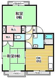 メゾン竹村[105号室]の間取り