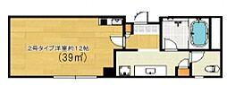 クレアジオーネ中之島西[802号室号室]の間取り