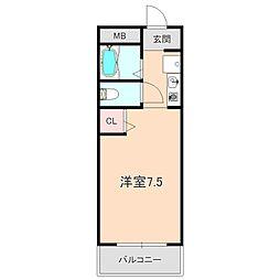 竹永ハイツ[103号室]の間取り